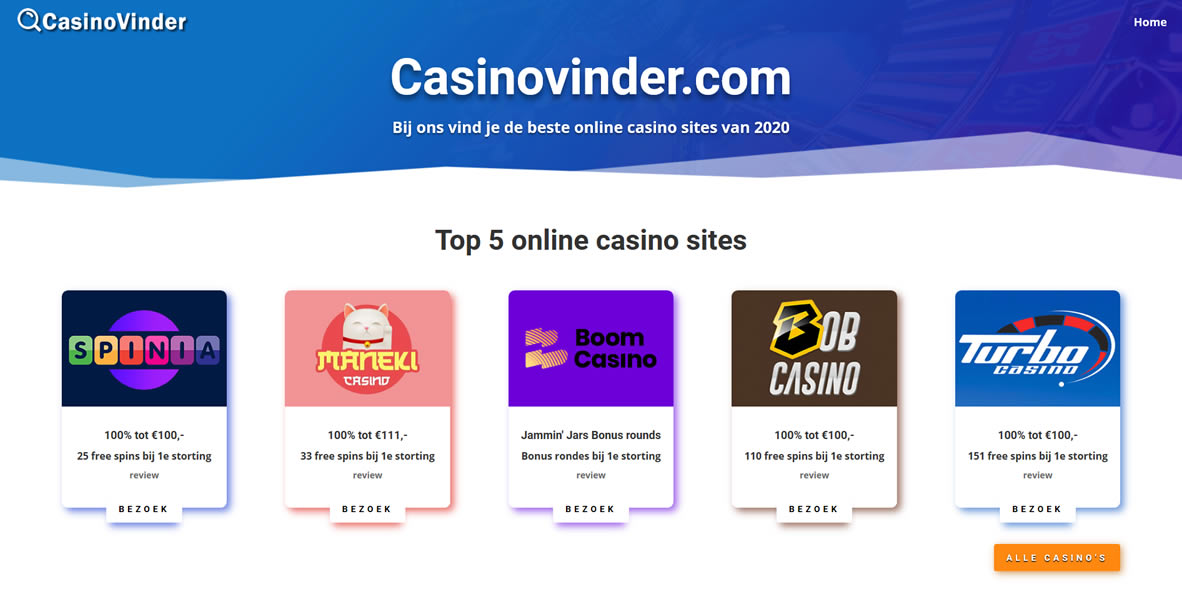 casinovinder homepage