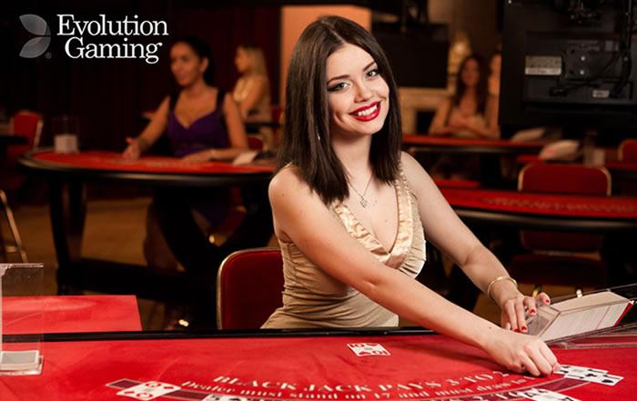 Spelen in een live casino van Evolution Gaming