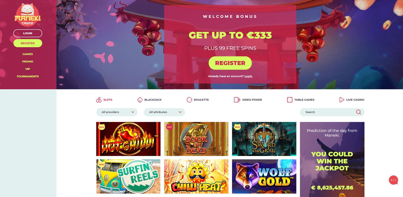 maneki casino index