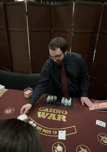 Casino War dealer